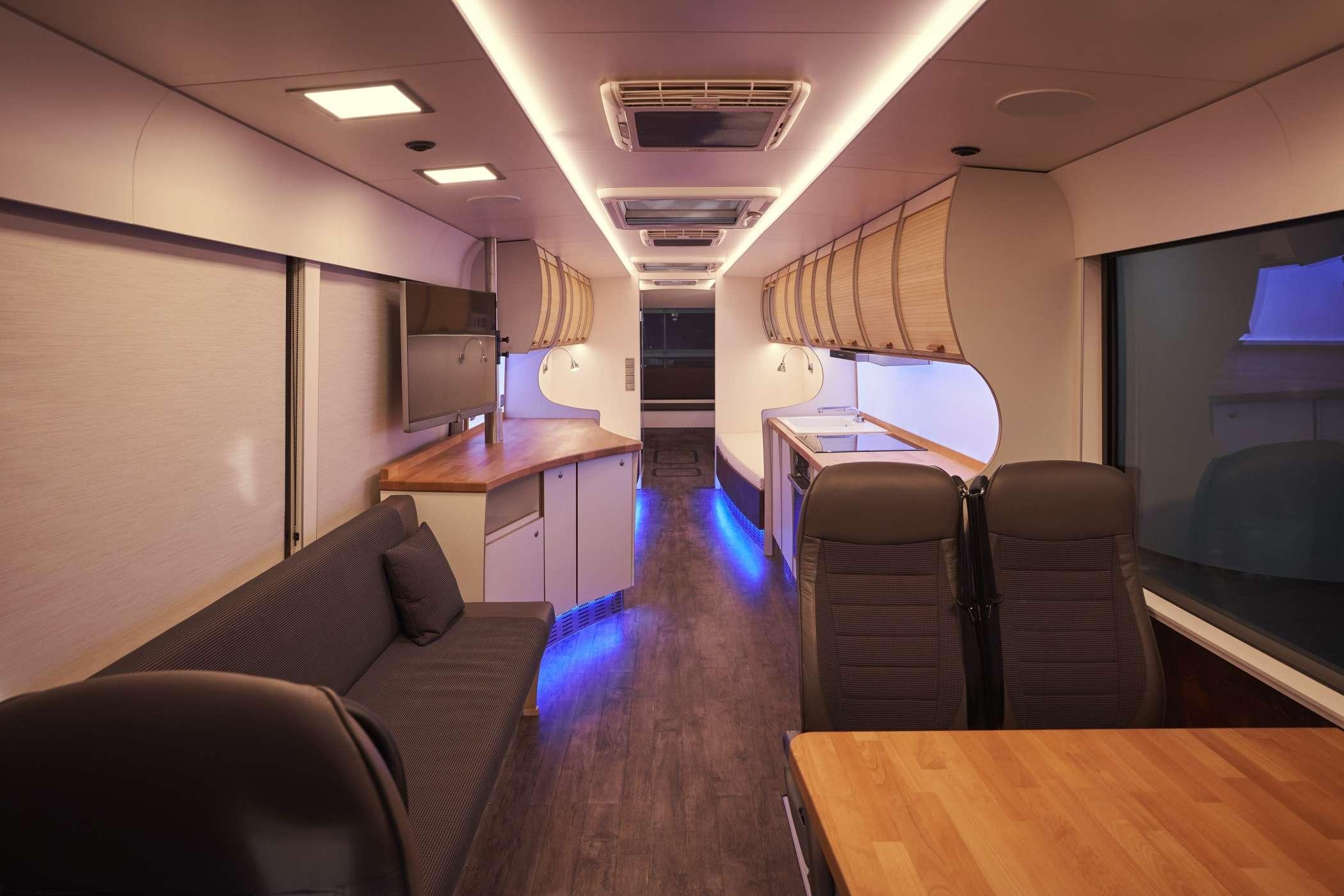 Reisebus wird zum Luxus-Wohnmobil - Reisebusse (wie Doppeldecker